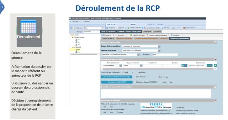 Deroulement RCP WEBDCR